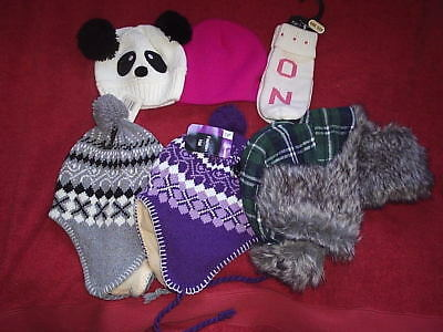 job lot of hats and gloves