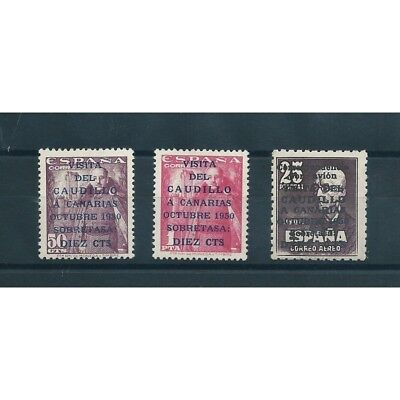 1950 SPAIN spain VISIT GENERAL FRANCO AT THE CANARY ISLANDS 3 V MnH MF17078