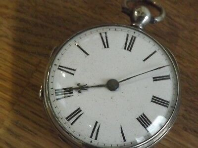 John Reider Quality  Antique Solid Silver Fusee Pocket Watch
