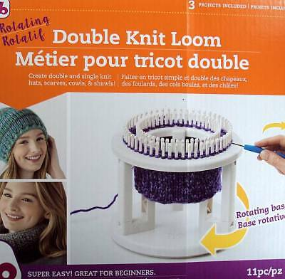 """Rotating Double Knit Loom  From Authentic Knitting Board    9.5""""X10.5""""X3.5"""""""