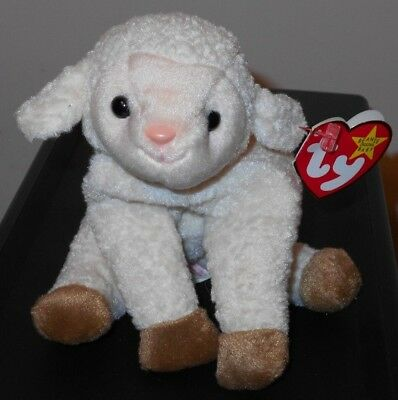 NMT* Ty Beanie Baby ~ EWEY the Lamb ~ MINT with NEAR MINT TAGS