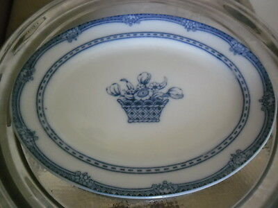 "LOSOL WARE KEELING & Co ""RUSHTON"" FLOW BLUE SMALL PLATTER"