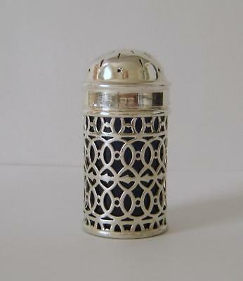 An Antique Sterling Silver Pepper Pot Birmingham 1897 Walker & Hall