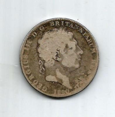 A King George III 1820 Silver One Crown Coin
