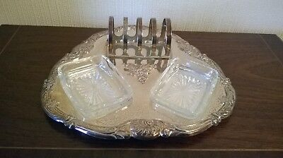Falstaff Silver Plate Breakfast/Toast Tray