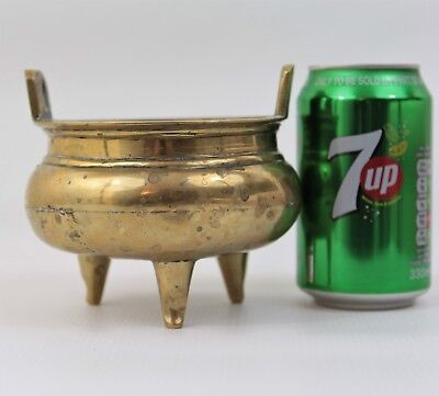 A Chinese Antique Polished Bronze Censer Insense Burner Bowl Marked to Base