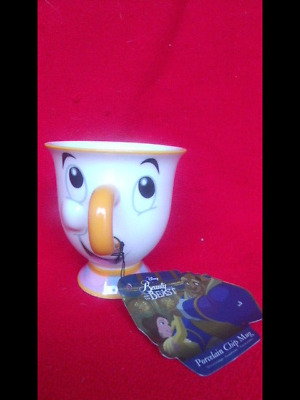 Disney Chip Mug Cup From Beauty And The Beast Tagged Porcelain