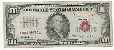 $100 United States Note Red Seal Series 1966