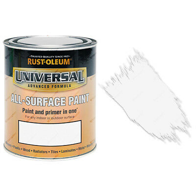 Rust-Oleum Universal All-Surface Self Primer (Brush) Paint Satin White 750ml
