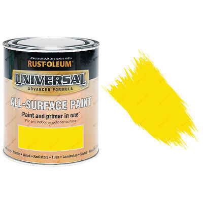 Rust-Oleum Universal All-Surface Self Primer Paint Gloss Canary Yellow 750ml