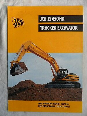 JCB JS 450 HD TRACKED EXCAVATOR Sales Brochure 1999