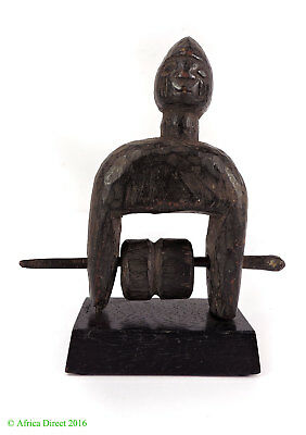 Yoruba Heddle Pulley on Stand Nigeria Africa Gelb Collection