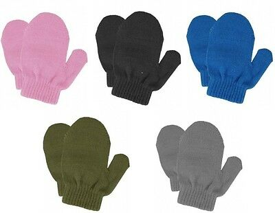 Toddlers Kids Girls Winter Stretch Knit Mittens NWT One Size #83196