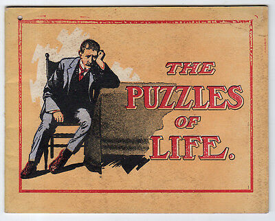 Vintage Dr. Miles' Medicine Booklet The Puzzles Of Life, 34 Pages, Brain Teasers