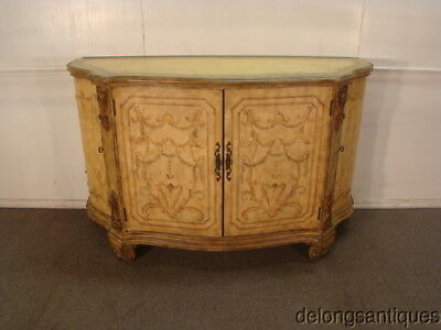 48477:Paint Decorated French Style Credenza