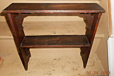 Rare Aafa Antique Early 1900 Miniature Wooden Bucket Bench