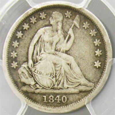 1840-O Seated Liberty Dime - PCGS F12 No Drapery, F-106a -Certified & Graded 10c