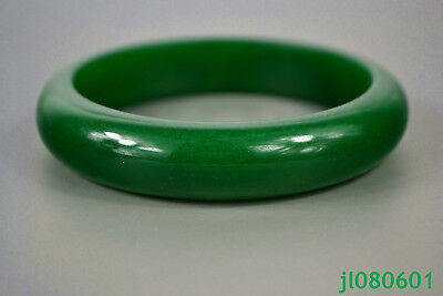 China Old Chinese Culture green jade burnish handwork Women nice Bracelet