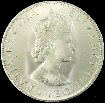 1964 Bermuda Silver 1 Crown -BU- Uncirculated KM#14 PG 226 - ASW 0.3613 oz