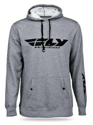 Fly Racing 2014 Adult Hoody Corporate Grey Hoodie Size Large LG