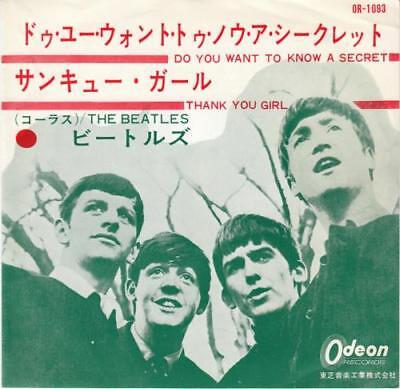"Beatles 7"" vinyl single record Do You Want To Know A Secret - 1st - Red JPN"
