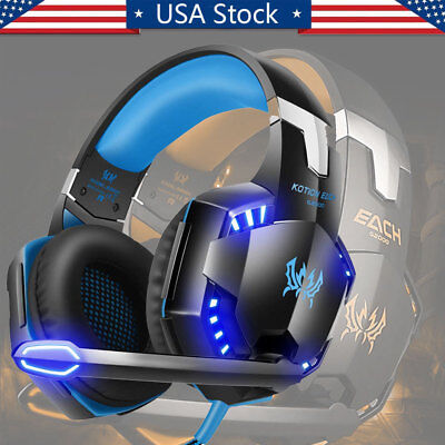 3.5mm Gaming Headset LED Gaming Headphone with Mic for PS4 Switch Xbox One PS3