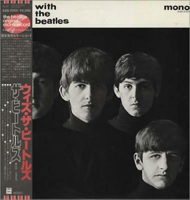 With The Beatles - Red + 82 Obi Beatles Japanese vinyl LP album record