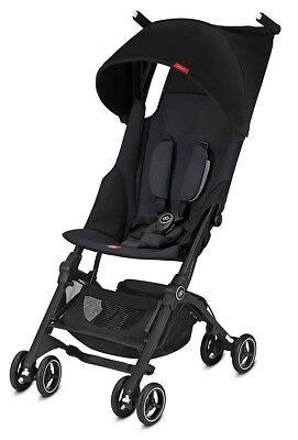 GB Pockit+ Lightweight Ultra Compact Fold Baby Travel Stroller Satin Black NEW