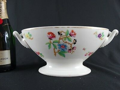 Antique 19thC French Hand Painted Porcelain Tureen Makers marks to base France