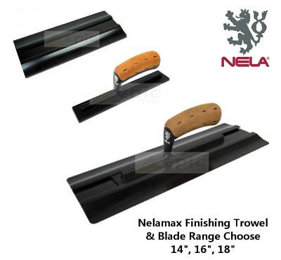"NELAMAX Interchangeable Plastic Finishing Trowel or Blade Choose 14"", 16"", 18"""
