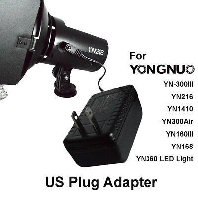 AC Adapter Power Supply Charger for Yongnuo LED Light YN216 YN360 YN300 Air US