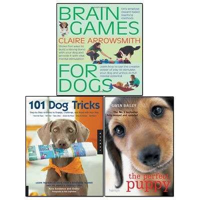 Puppy Care 3 Books Set 101 Dog Tricks, Perfect Puppy and Brain Games For Dogs