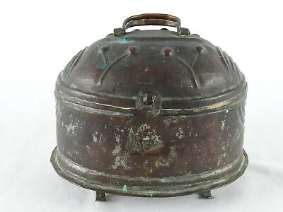 Antique Ottoman Empire Syrian Tinned Copper Dome Topped bathing Box Syria 19thC