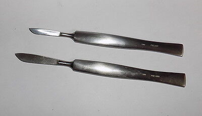 Two surgical scalpel ~ Poland 1980's~Unused~stainless steel #22218