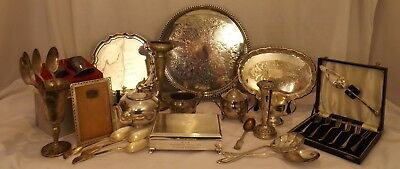 #8371 Large Job Lot of EPNS and Silver Plate Items