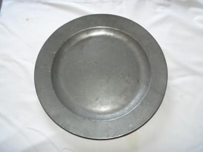 "Antique Georgian 14.75"" pewter charger with Unicorn touchmark London"