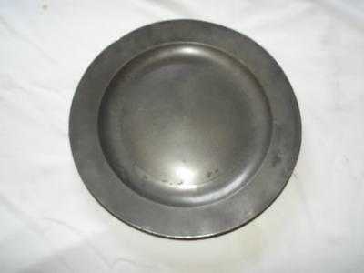 "Antique Georgian 13.25"" pewter charger."