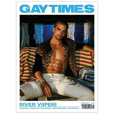 Gay Times Magazine February 2018 -River Viiperi / Reece King / Peppermint