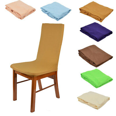 Hotel Wedding Party Spandex Elastic Dinning Room Chair Seat Removable Cover 5pcs