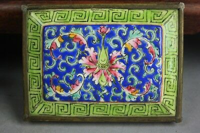 19th/20th C. Chinese Inlaid Bronze Porcelain Covered Box