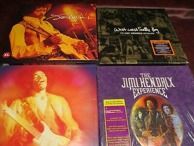 Jimi Hendrix 1St Edition Boxes Experience Seattle Winterland Ladyland + Fan Pack