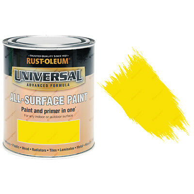 Rust-Oleum Universal All-Surface Self Primer Paint Gloss Canary Yellow 250ml