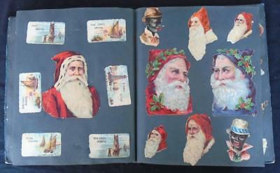 Antique/Vintage Scraps Die Cuts Father Christmas Animals Flowers Children