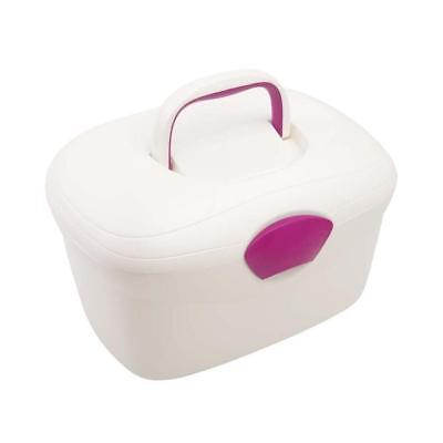 Neat Nursery Oval Ergonomic Baby Box (Pearl/Pink) With Fastening Lid