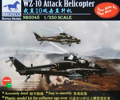Bronco Nb5048 - 1/350 Wz-10 Attack Helicopter - Neu