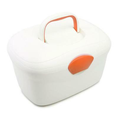 Neat Nursery Oval Ergonomic Baby Box (Pearl/Orange) With Fastening Lid