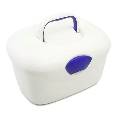 Neat Nursery Oval Ergonomic Baby Box (Pearl/Plum) With Fastening Lid