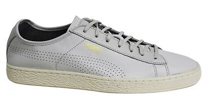 9787c14faa4 Puma Basket Classic Soft Off White Leather Lace Up Mens Trainers 363824 04  D50