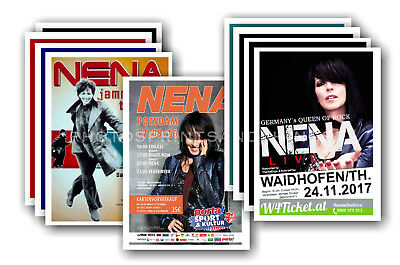 NENA  - 10 promotional posters - collectable postcard set # 2