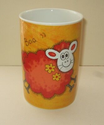 Dunoon Pottery Stoneware Utensil Pot - Funky Farm Design By Jane Brookshaw